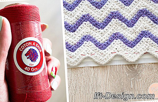 Tutorial: ganchillo a funda de cojín chevron: cojín
