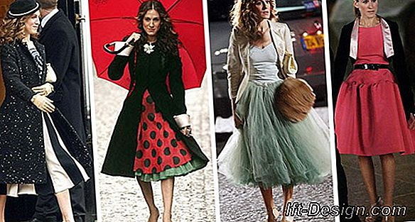 A entrada extravagante de Carrie Bradshaw de Sex and the City