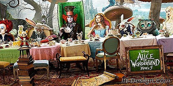 Een manier Alice in Wonderland